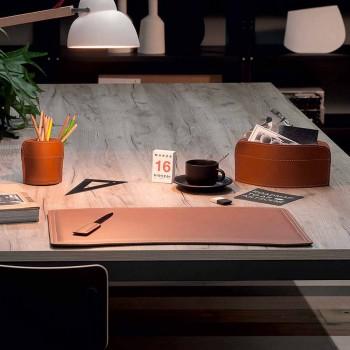 Accesorii 4 bucăți Birou regenerat din piele Made in Italy - Brando