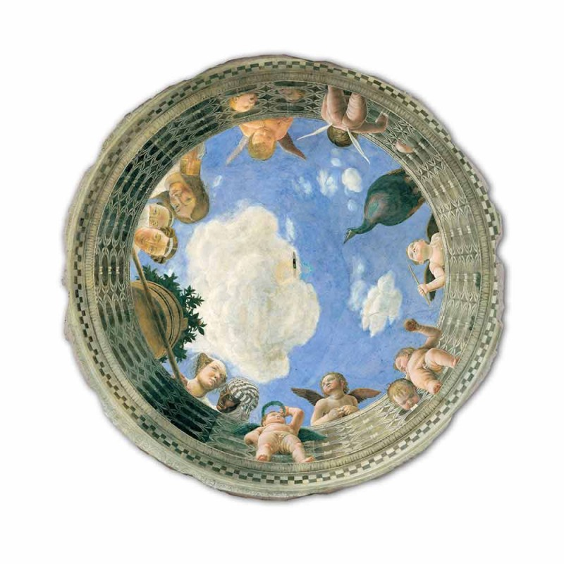 """Andrea Mantegna Fresco """"Oculus cu heruvimi și Dame Cu vedere"""""""