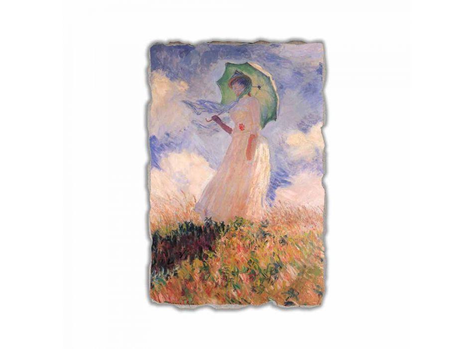 """Fresco Calude Monet """"Femeie cu Parasol spre stânga"""""""