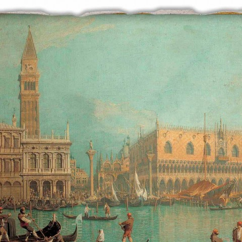 """Fresco Canaletto """"Vedere din Palazzo Ducale di Venezia"""""""