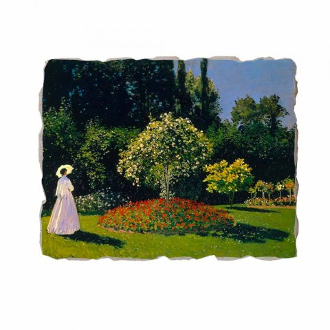 "Fresco Claude Monet ""Lady in Garden la Sainte-Adresse"""