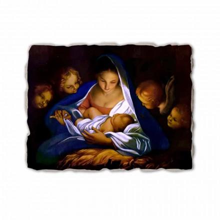 """Fresco manual italian Carlo Maratta """"Nașterea Domnului"""" 1650"""