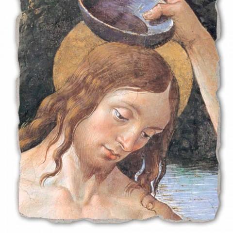 "Fresco realizate manual Perugino ""Botezul lui Hristos"""