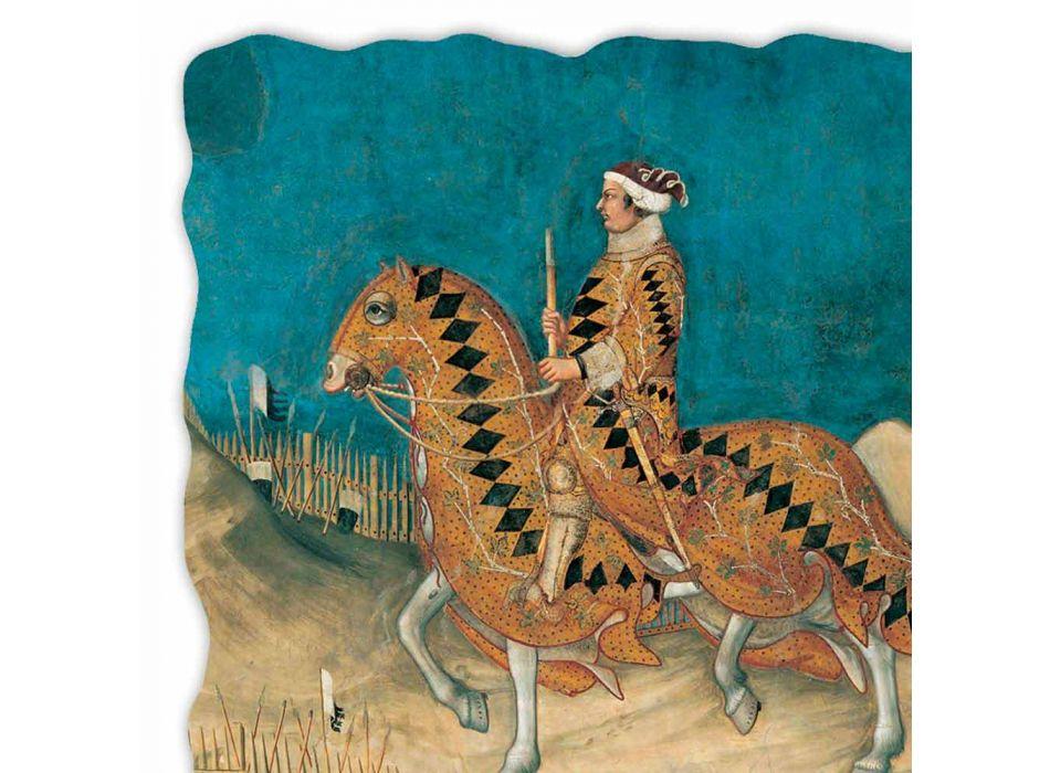 """Fresco manual Simone Martini """"Guidoriccio da Fogliano"""""""