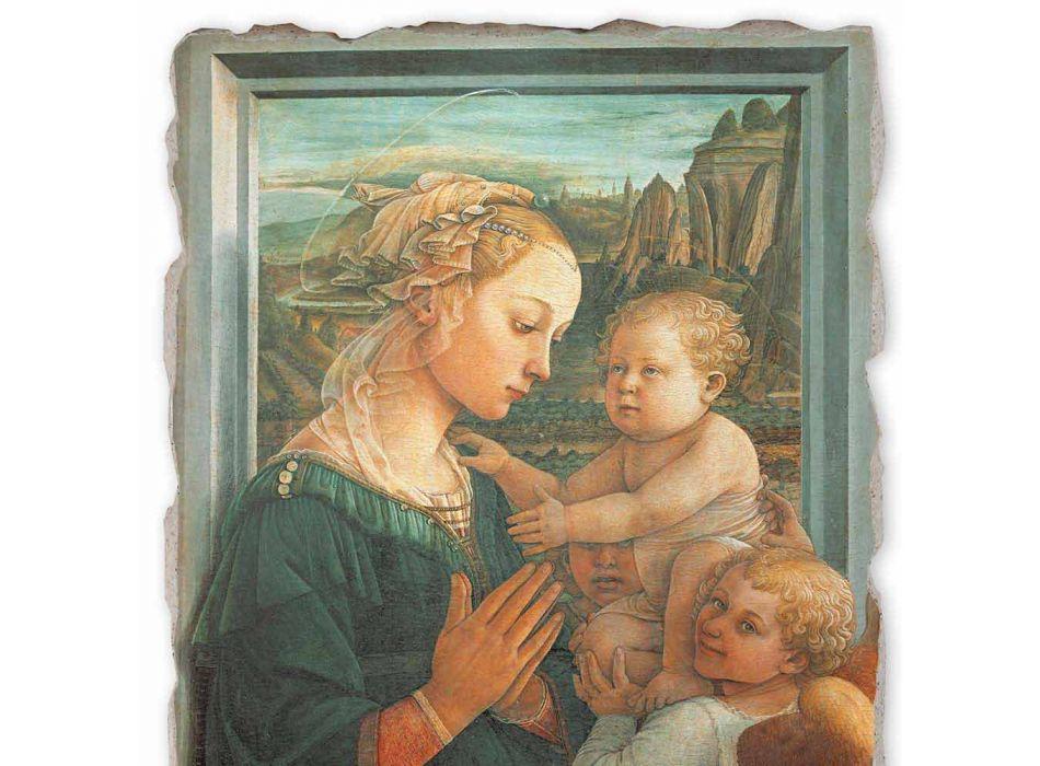 """Fresco făcut în limba italiană Filippo Lippi """"Madonna și Copilului"""""""