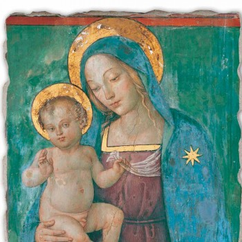 """Fresco făcut în Italia Pinturicchio """"Madonna și Copilului"""""""