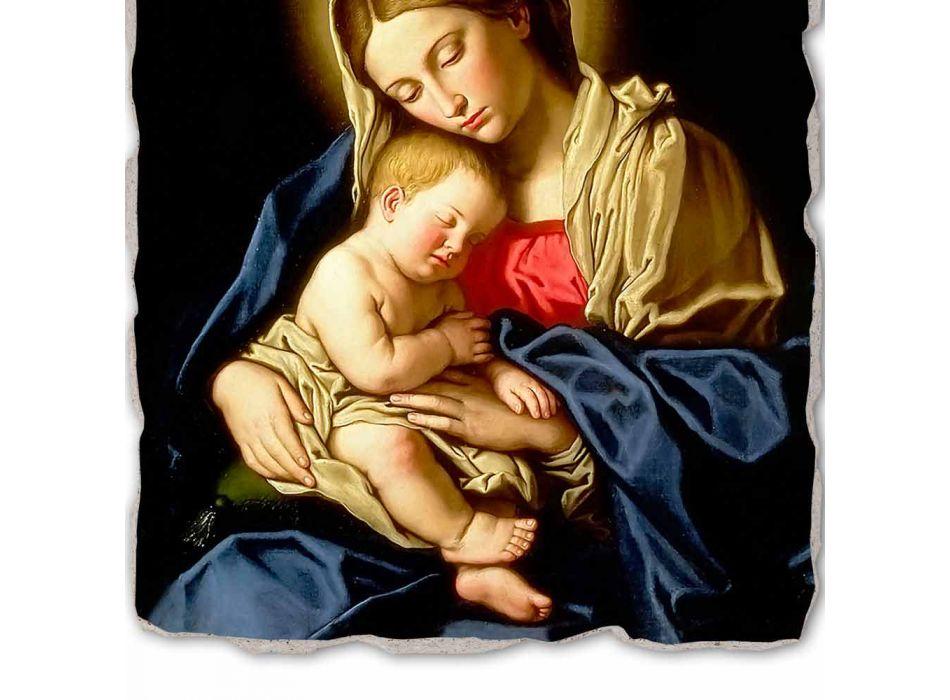 """Fresco făcut în Italia Sassoferrato """"Madonna și Copilului"""""""