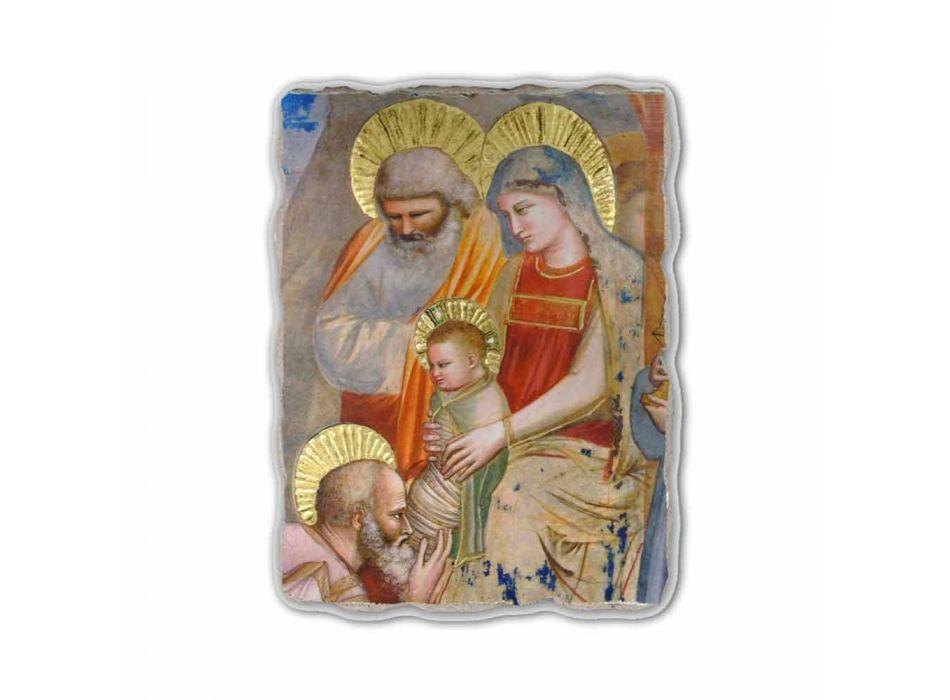 """Giotto frescă """"Adoratia Magilor"""" lucrate manual în Italia"""