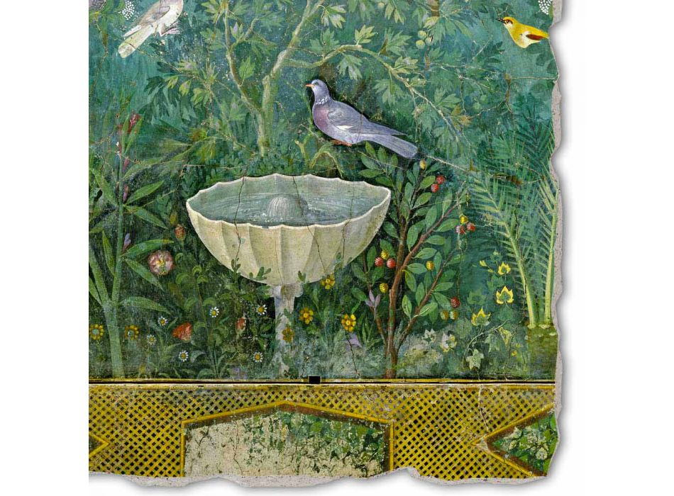 """cel mai mare Roman Fresco """"Gradina cu Hermes și Fontana"""" parte."""