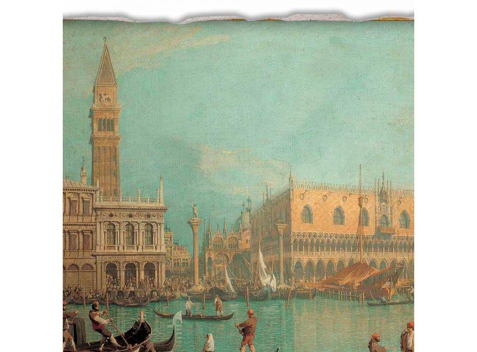"""Fresco mare Canaletto """"Vedere din Palazzo Ducale di Venezia"""""""