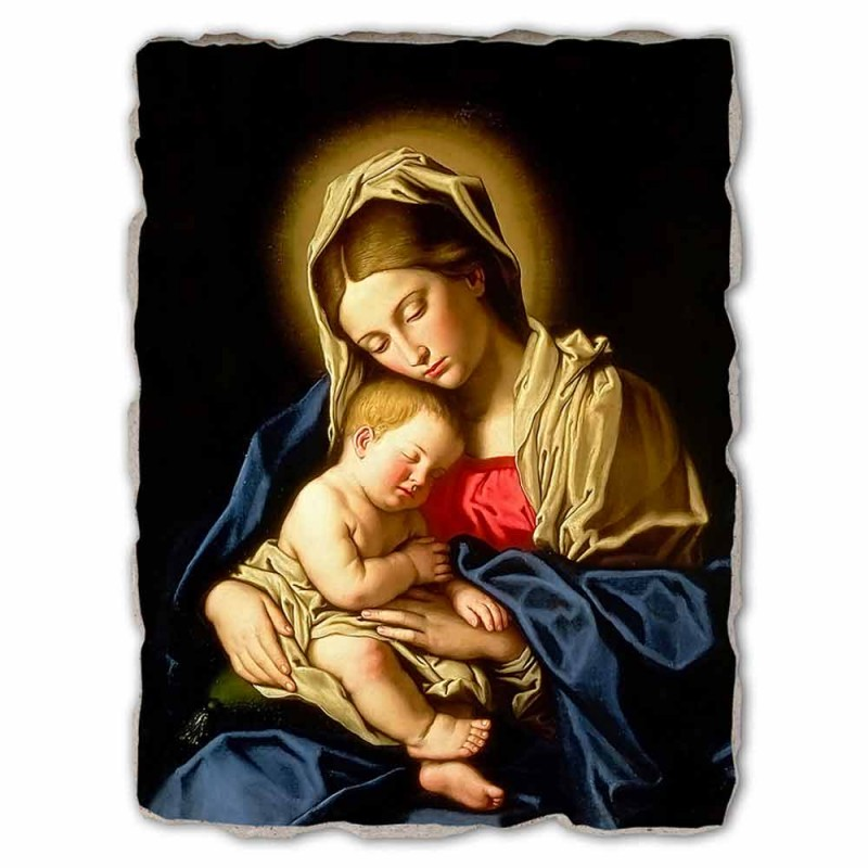 """Great Fresco realizate manual Sassoferrato """"Madonna și Copilului"""""""