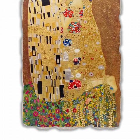 "Great Fresco făcut în Italia Gustav Klimt ""Sărutul"""