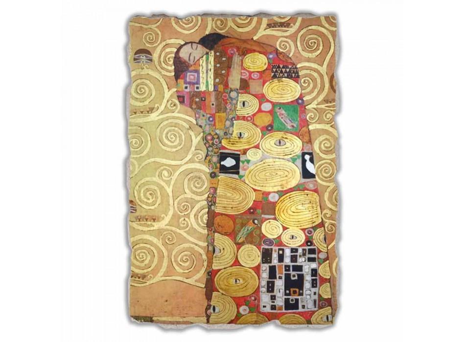 """Great Fresco făcut în Italia Gustav Klimt """"imbratisare"""""""