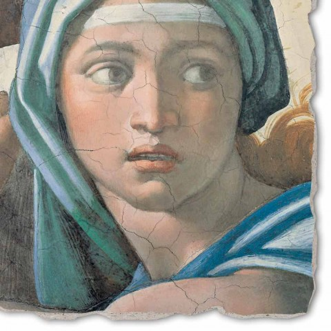 """Great Fresco făcut în Italia Michelangelo """"delfică sibilă"""""""
