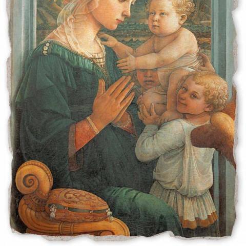 """Marele Fresco Filippo Lippi """"Madonna și Copilului"""", realizate manual"""