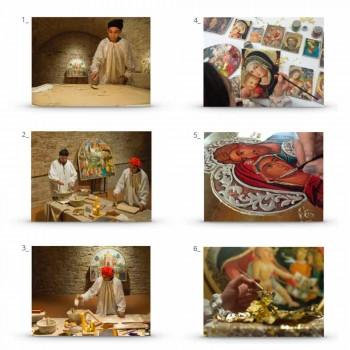 "Great Fresco Friar Ilario din Viterbo ""Buna Vestire"" parte."