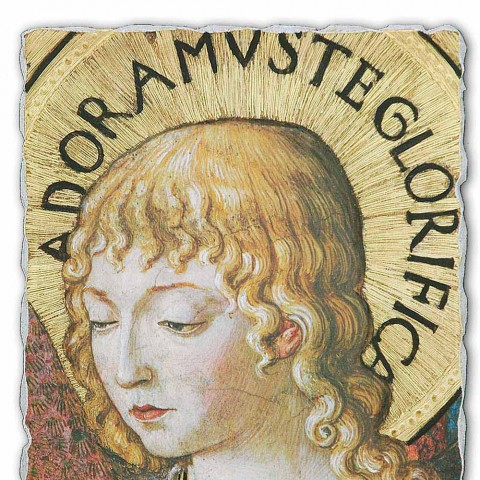 """Great Fresco Gozzoli """"Coruri de Îngeri în adorație"""" -1454"""