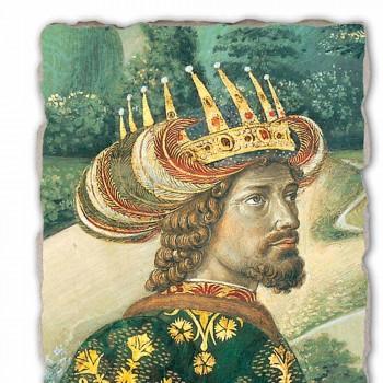 """Cea mai mare Fresco Gozzoli Cortegiul Magilor cu regele Melchior """""""