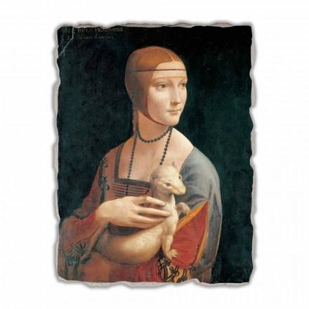 "Fresco mare Leonardo da Vinci ""Doamna cu un Ermine"""