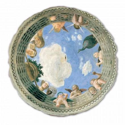 """mare Mantegna Fresco """"Oculus cu heruvimi și Dame Cu vedere"""""""