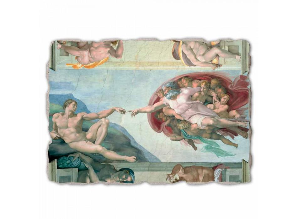 """Michelangelo mare fresca """"Crearea lui Adam"""", realizate manual"""