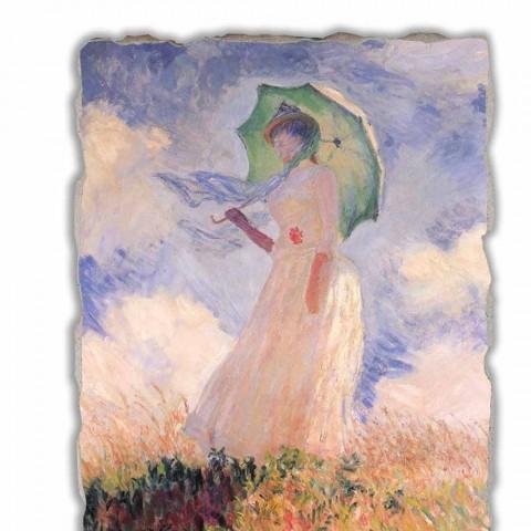 "Marele Fresco Monet ""Femeie cu Parasol spre stânga"""