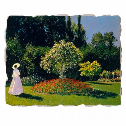 "Marele Fresco Monet ""Lady in Garden la Sainte-Adresse"""