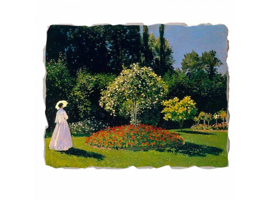 """Marele Fresco Monet """"Lady in Garden la Sainte-Adresse"""""""