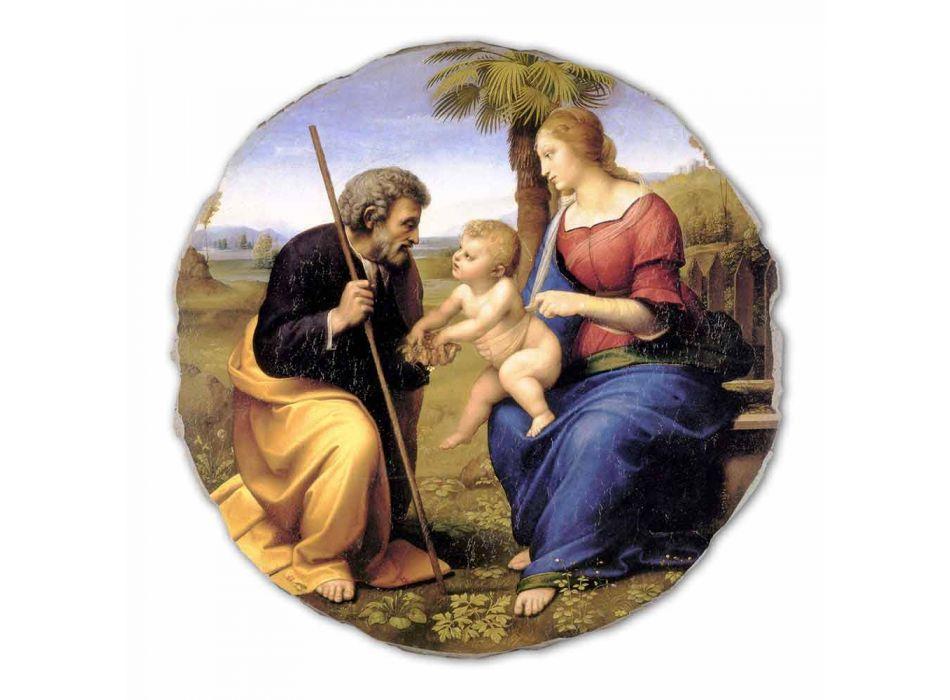 "Fresco mare Raffaello Sanzio ""Sfânta Familie cu Palm Tree"""