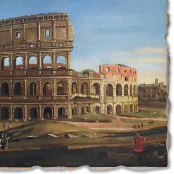"""Marele Fresco Vanvitelli """"a Colosseum și Arcul lui Constantin"""""""