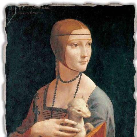 """Fresco Leonardo da Vinci """"Doamna cu un Ermine"""""""