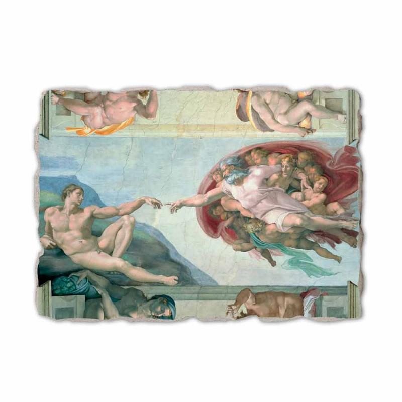 """Fresco lui Michelangelo """"Crearea lui Adam"""", realizate manual"""