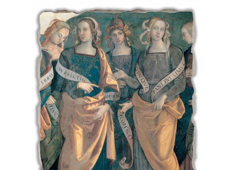"""Fresco Perugino """"Stăpânul îngerilor, Profeți și sibile,"""" o parte."""