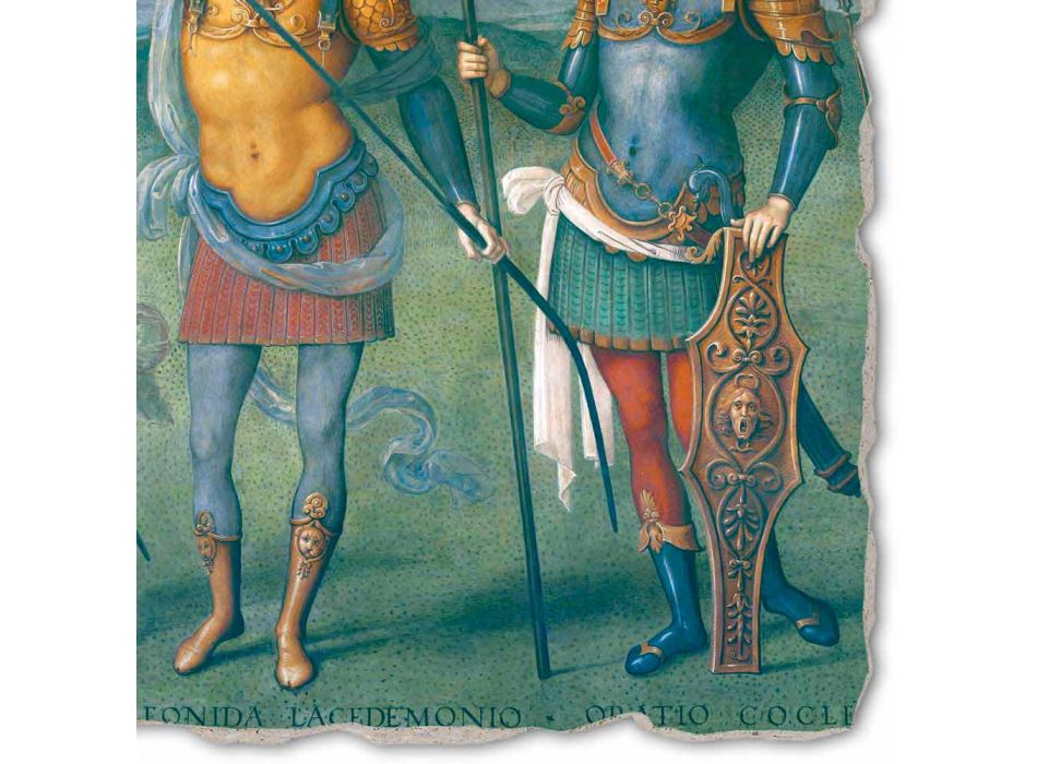 "Perugino fresca ""Cetatea, Temperance și șase Eroilor din antichitate"""