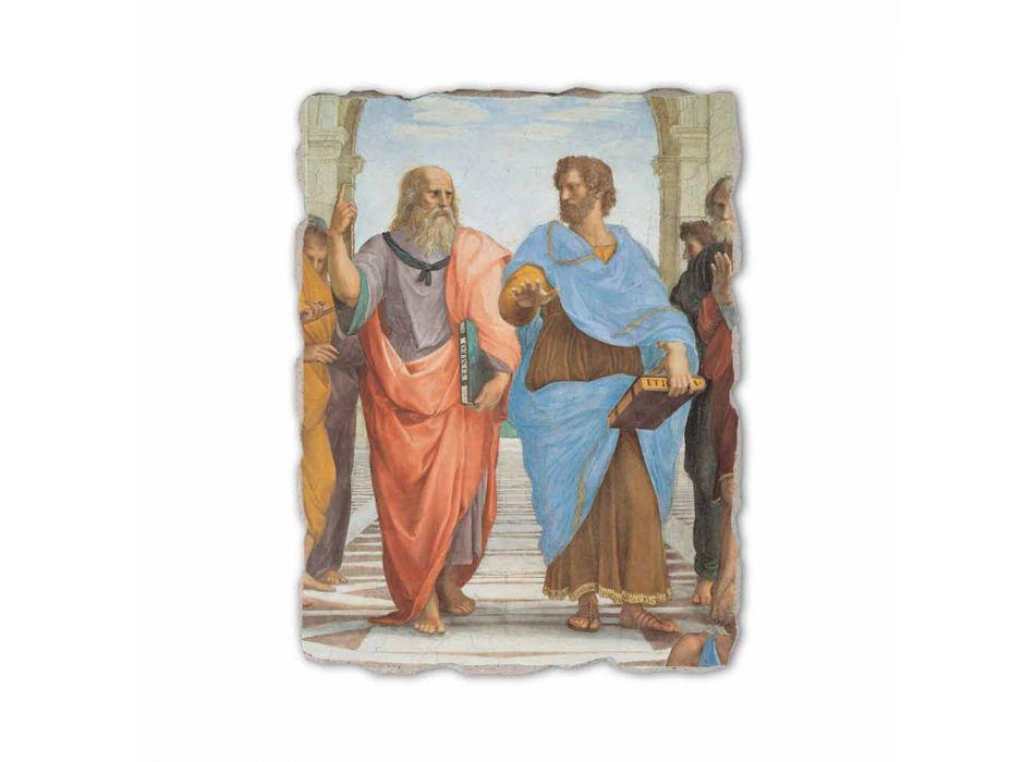 """Raffaello Sanzio frescă """"Scoala din Atena"""" parte. Platon și Artistotele"""