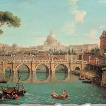 "Fresco reproducere Antonio Joli ""Vezi Sf Petru"""