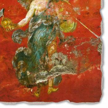 """Fresco reproducere romană """"Ciclul Muzelor"""" parte."""