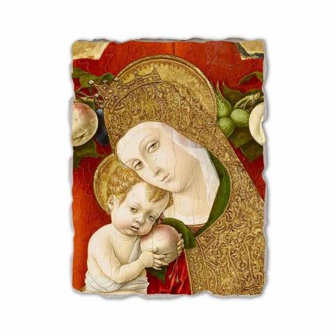 """Fresco reproducere Carlo Crivelli """"Madonna Lochis"""" 1475"""