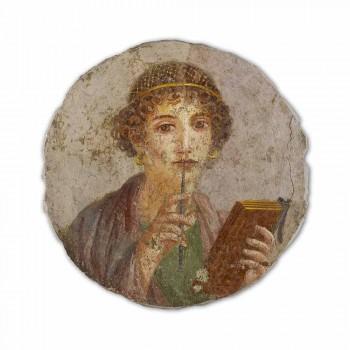 """Fresco reproducerea făcută în Italia Roman """"The Poet"""""""
