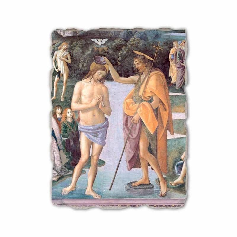 "Fresco reproducere Perugino ""Botezul lui Hristos"""