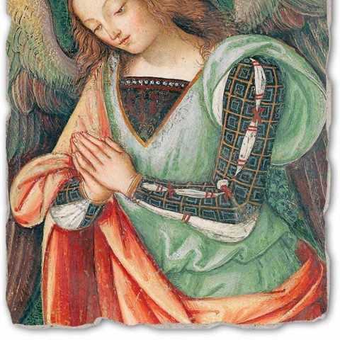 """Fresco Pinturicchio juca """"Nașterea"""" parte. Angelo"""