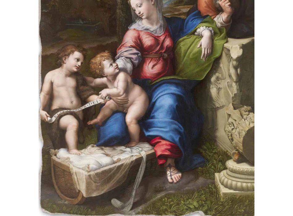 "Fresco reproducere R.Sanzio ""Sfânta Familie sub stejar"""
