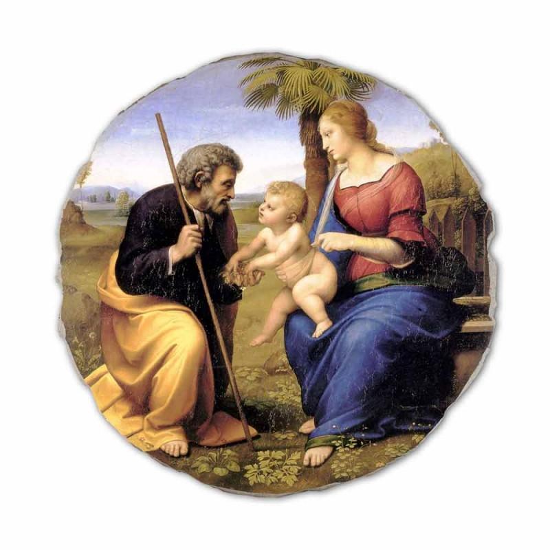 "Reproducerea Fresco Raffaello Sanzio ""Sfânta Familie cu Palm Tree"""