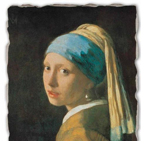 """Fresco juca Vermeer """"Fata cu turban"""" 1665"""