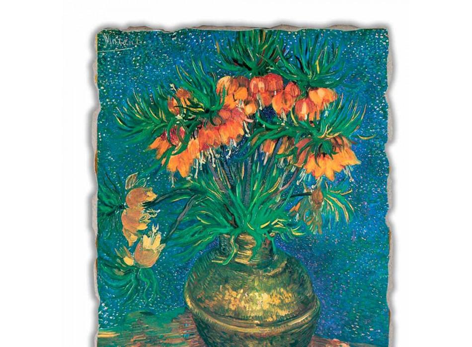 """Fresco Vincent Van Gogh """"Still Life cu Fritillaries"""" 1887"""