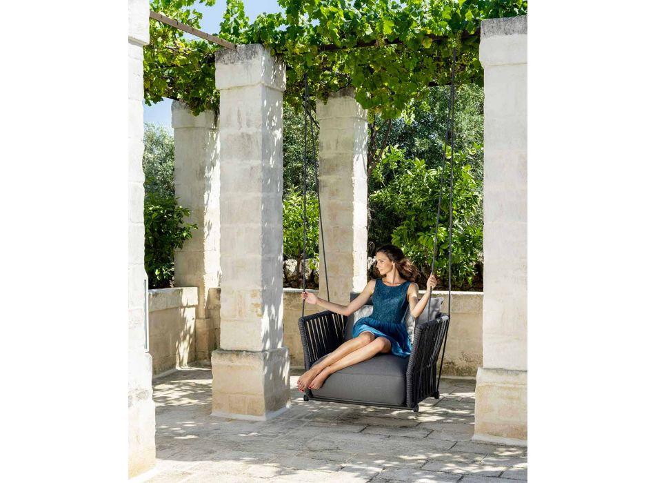Balansoar de grădină de design modern în țesătură și frânghie - Cliff by Talenti