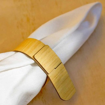 Inel de șervețel din lemn cu design modern realizat în Italia - Stan