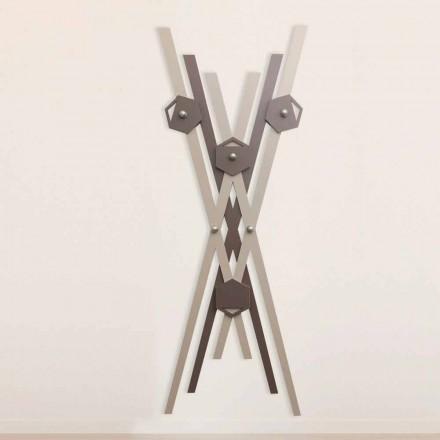 Cuier de perete Design modern din lemn colorat pentru intrare - Picasso