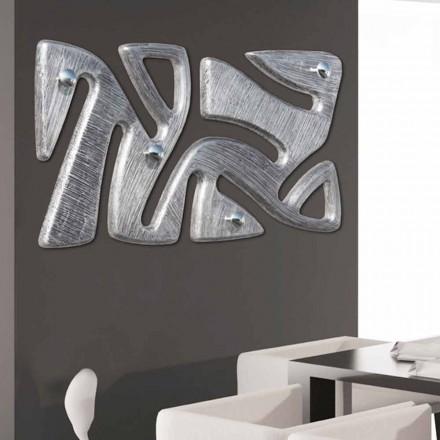 Designul cuierului de perete decorat manual în frunze de argint Holt