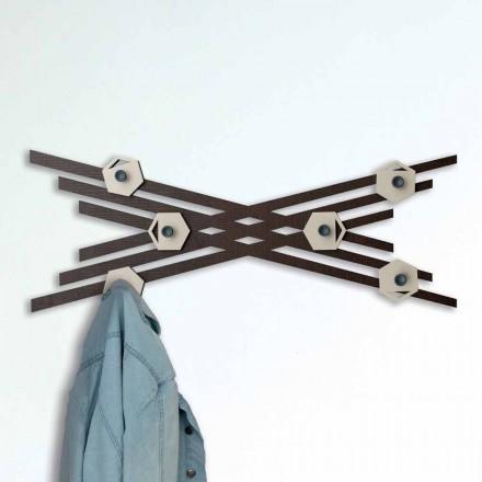 Palton de design modern din lemn lacat colorat - Picassino